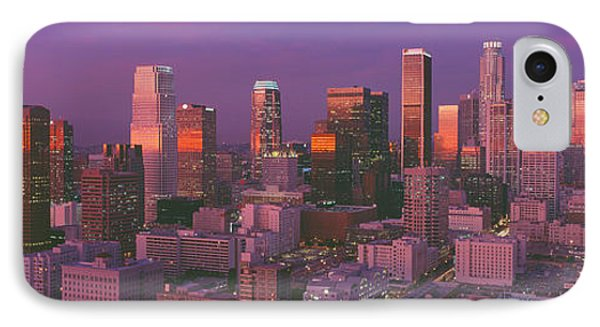 Los Angeles, Skyline, Sunset, California IPhone Case by Panoramic Images