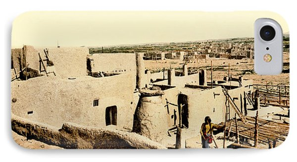 Los Pueblos De Taos IPhone Case by Underwood Archives