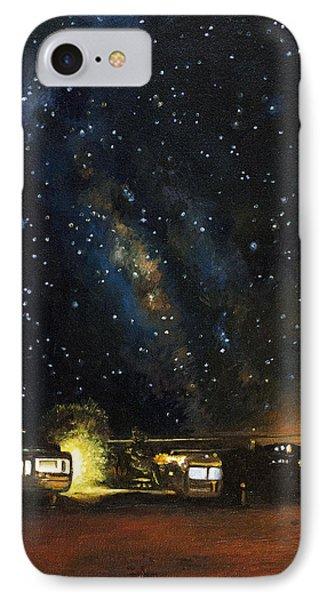 Los Rancheros Rv Park IPhone Case by Leah Saulnier The Painting Maniac