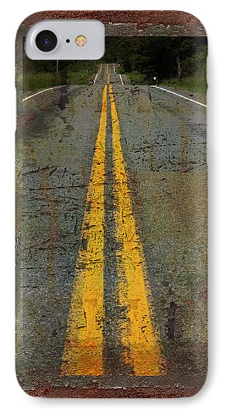 The Road Goes On Forever IPhone Case by John Stephens