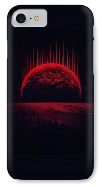 Lost Home Colosal Future Sci Fi Deep Space Scene In Diabolic Red IPhone Case by Philipp Rietz