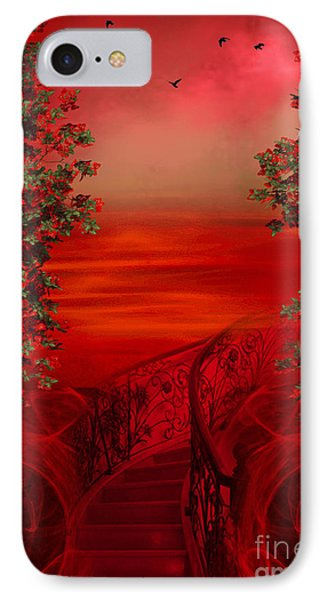 Lost In Red - Surreal Art By Giada Rossi IPhone Case by Giada Rossi