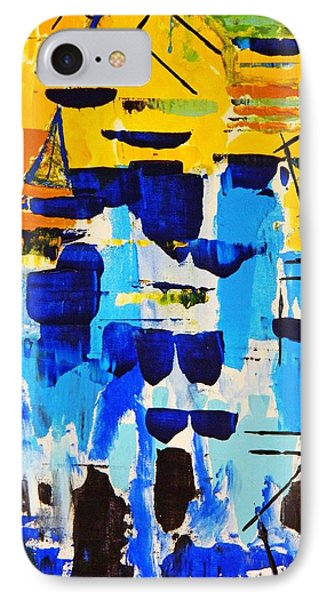 IPhone Case featuring the painting Lost In The Crowd by Everette McMahan jr