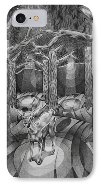 Lost In The Woods IPhone Case by Myron  Belfast