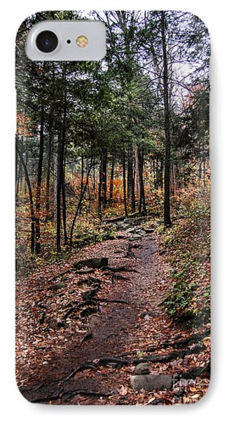 IPhone Case featuring the photograph Lost In Thought On The Blue Ridge Parkway Trail by Debbie Green