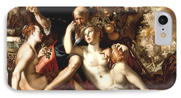 Lot And His Daughters Phone Case by Joachim Antonisz Wtewael