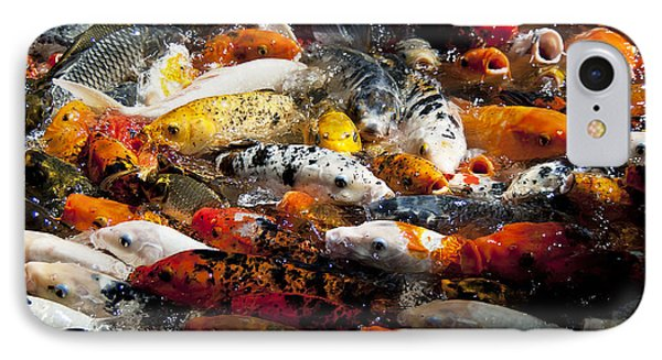 IPhone Case featuring the photograph Lots Of Hungry Koi  by Wilma  Birdwell