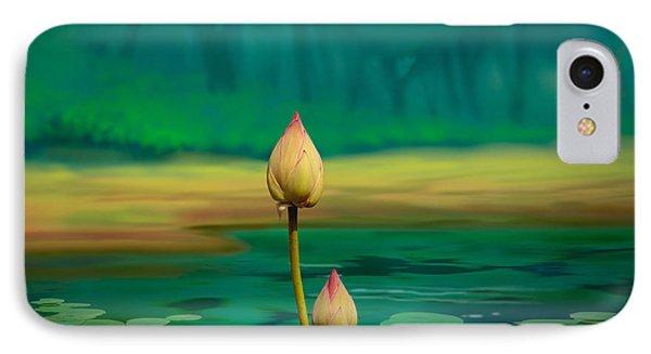 Lotus Buds Phone Case by Bedros Awak