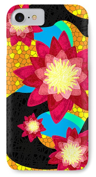 Lotus Flower Bombs In Magenta Phone Case by Kenal Louis