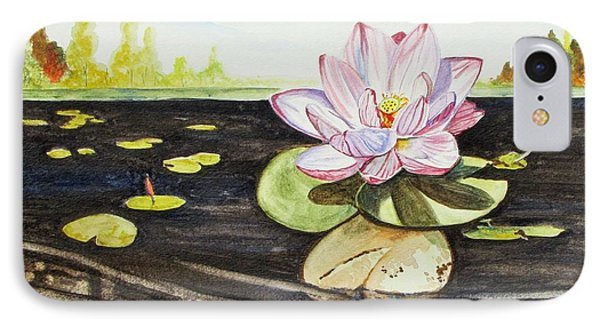 IPhone Case featuring the painting Lotus Fun by Kevin F Heuman