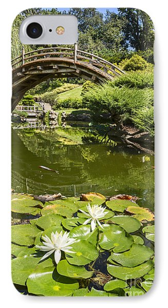 Lotus Garden - Japanese Garden At The Huntington Library. IPhone Case by Jamie Pham