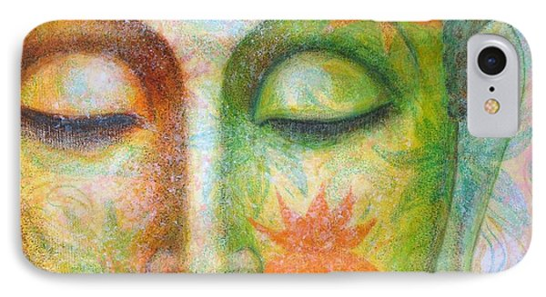 IPhone Case featuring the painting Lotus Meditation Buddha by Sue Halstenberg