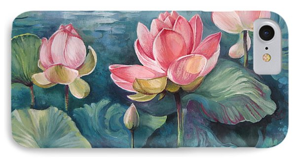 Lotus Pond IPhone Case by Elena Oleniuc