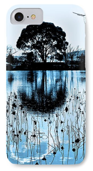 Lotus Pond Winter - 4 IPhone Case by Larry Knipfing