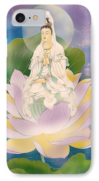 Lotus-sitting Avalokitesvara  IPhone Case by Lanjee Chee