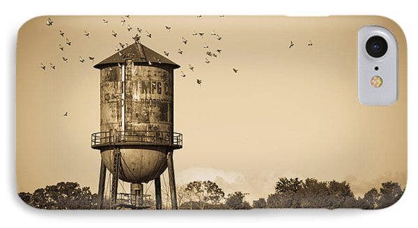 Loudon Water Tower IPhone Case by Melinda Fawver