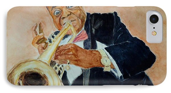 Louis Armstrong 1 Phone Case by Katie Spicuzza