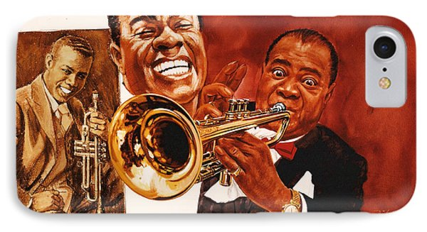 Louis Armstrong Phone Case by Dick Bobnick