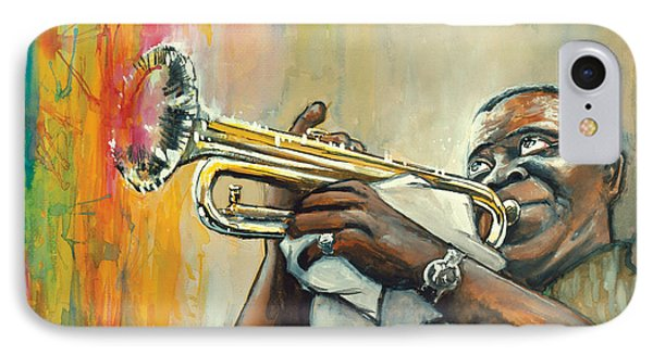 Louis Armstrong IPhone Case by Edward Draganski