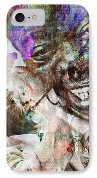 Louis Armstrong IPhone Case by Lynda Payton