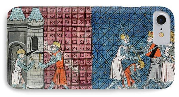 Louis Vii And Emperor Conrad IIi IPhone Case by British Library