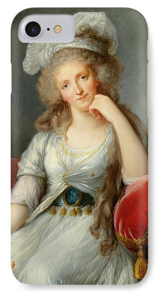 Louise-marie Adelaide, Duchesse Dorleans Oil On Canvas See Also 91622 IPhone Case by Elisabeth Louise Vigee-Lebrun