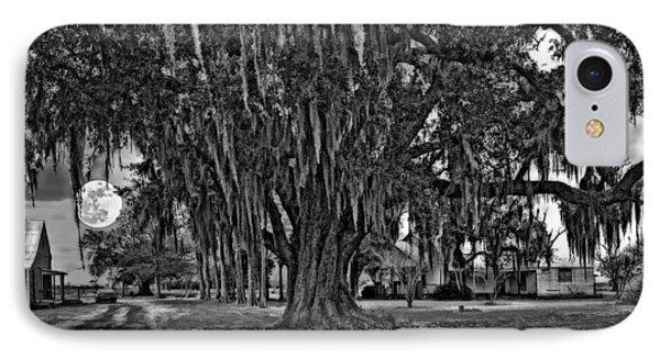 Louisiana Moon Rising Monochrome  Phone Case by Steve Harrington