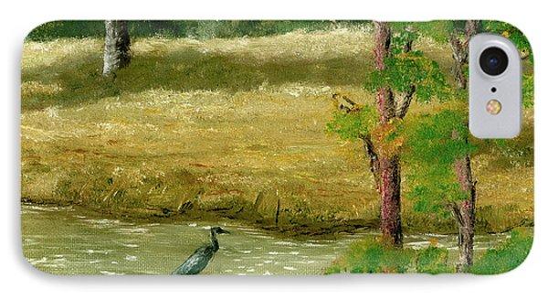 Louisiana Pond With Heron IPhone Case