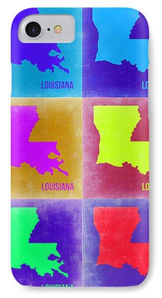 Louisiana Pop Art Map 2 Phone Case by Naxart Studio