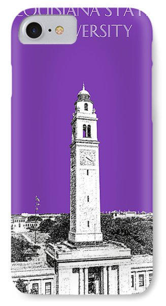 Louisiana State University - Memorial Tower - Purple IPhone Case by DB Artist
