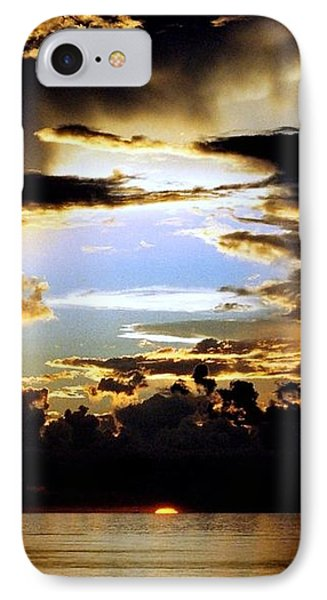 IPhone Case featuring the photograph Louisiana Sunset Blue In The Gulf  Of Mexico by Michael Hoard