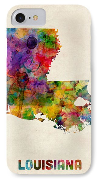 Louisiana Watercolor Map IPhone Case
