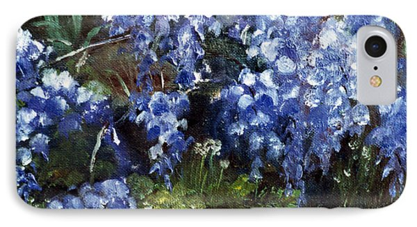 IPhone Case featuring the painting Louisiana Wisteria by Lenora  De Lude