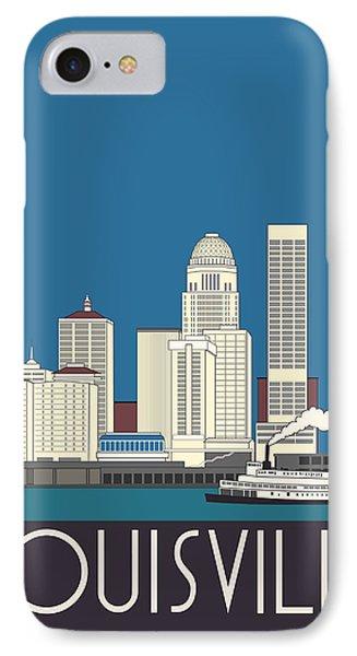 Louisville Art Deco Skyline Phone Case by Josef Spalenka