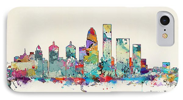 Louisville Kentucky Skyline IPhone Case by Bri B