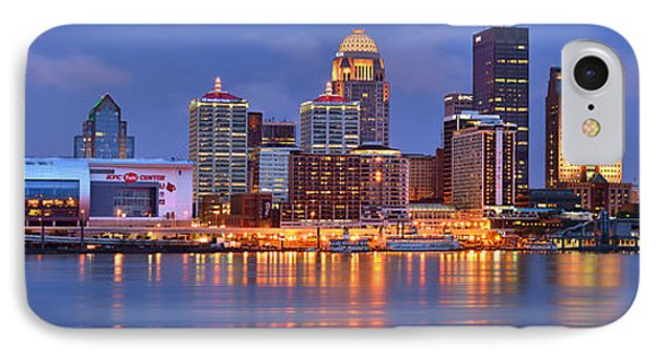 Louisville Skyline At Dusk Sunset Panorama Kentucky IPhone Case by Jon Holiday