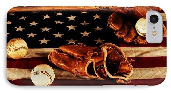 Baseball Gloves iPhone 7 Case - Louisville Slugger by Dan Sproul