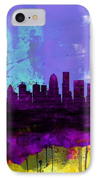 Louisville Watercolor Skyline IPhone Case