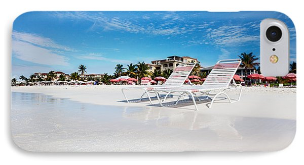 Lounge Chairs On Grace Bay Beach Phone Case by Jo Ann Snover