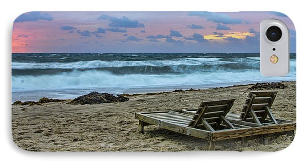 Loungers On The Beach IPhone Case by Don Durfee