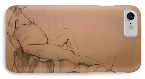 IPhone Case featuring the digital art Lounging Nude by Gabrielle Schertz