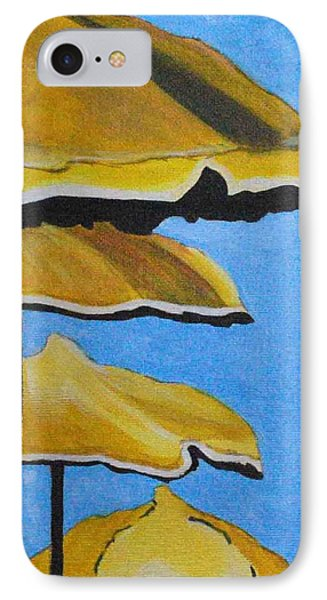Lounging Under The Umbrellas On A Bright Sunny Day Phone Case by Sonali Kukreja