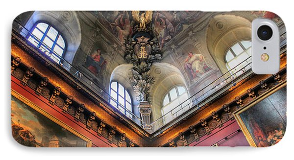 IPhone Case featuring the photograph Louvre Ceiling by Glenn DiPaola
