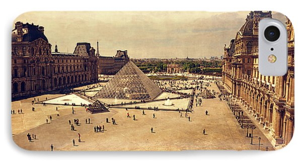 Louvre Museum IPhone Case by Maria Angelica Maira