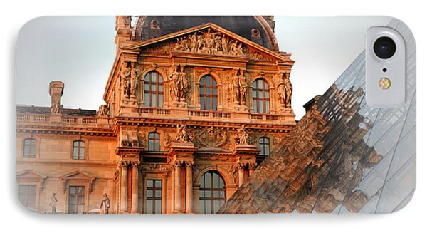 IPhone Case featuring the photograph Louvre And Pei by Jacqueline M Lewis