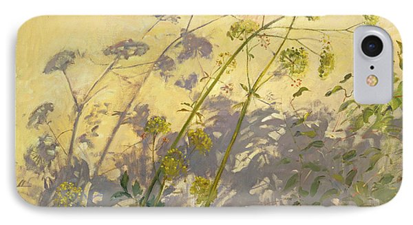 Lovage Clematis And Shadows Phone Case by Timothy  Easton