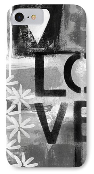 Love- Abstract Painting IPhone Case by Linda Woods