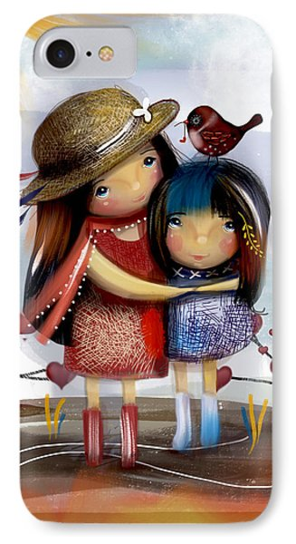 Love And Friendship  IPhone Case by Karin Taylor