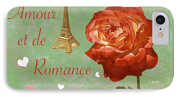 Love And Romance IPhone Case by Claudia Ellis