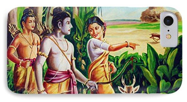 IPhone Case featuring the painting Love And Valour- Ramayana- The Divine Saga by Ragunath Venkatraman